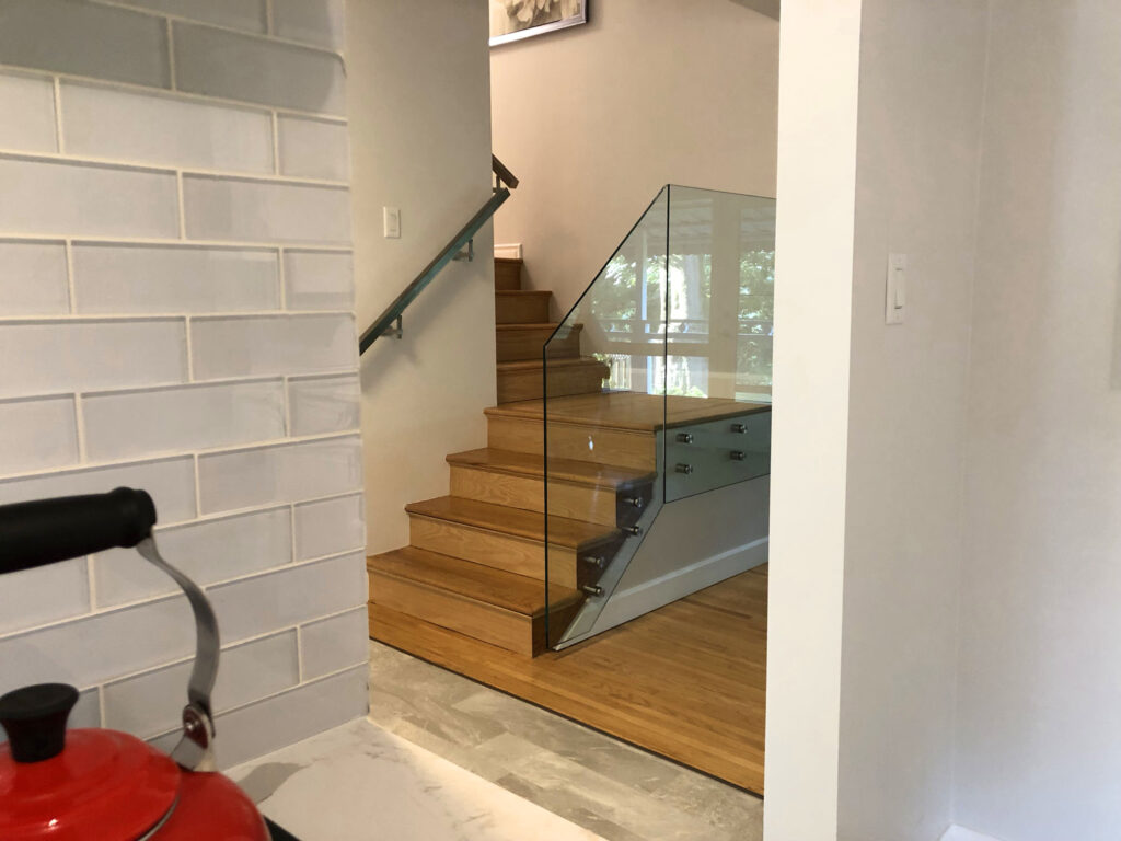 Renaissance Rail stainless steel and glass railings, standoffs, in Dundas, ON